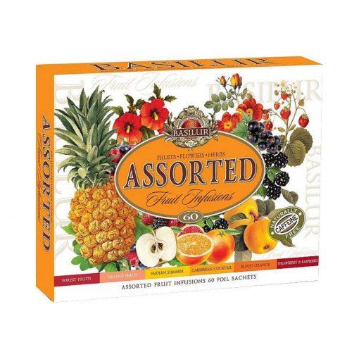 Darčekové balenie ovocných čajov. Balenie obsahuje: Indian Summer – 10 x 1,8g Caribbean Cocktail – 10 x 1,8g Orange Peach – 10 x 1,8g Forest Eruits – 10 x 1,8g
