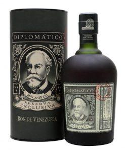 Diplomatico Reserva Exclusiva + tuba – 12YO – 0,7l – 40%