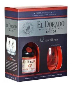 El Dorado – 12YO + 2 poháre – 0,7l – 40%