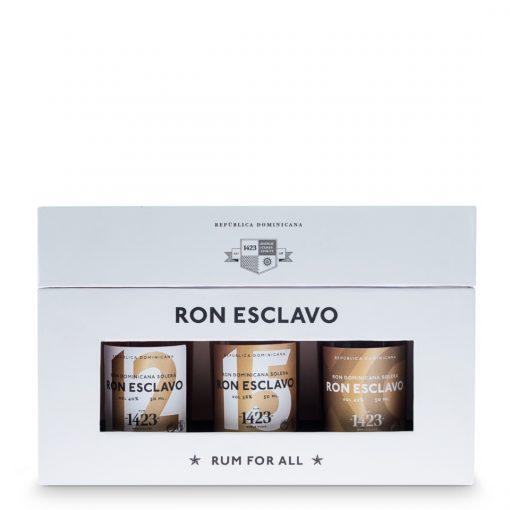 Ron Esclavo Solera Mini Set - 3x0,05l - 40% - Dominikánska republika